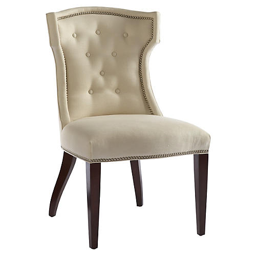 Quinn Side Chair, Ivory