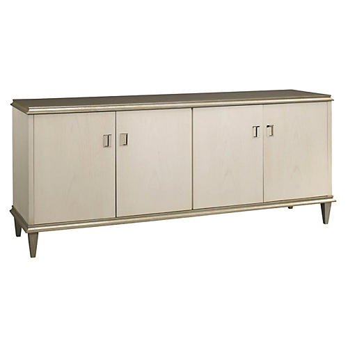 "Landrum 84"" Server, Washed Linen/Gray"