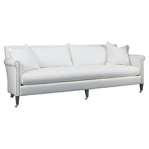 "Paris 97"" Linen Sofa, Cream"