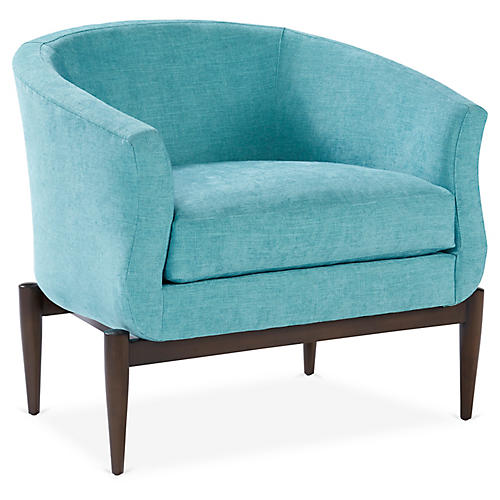 Marion Barrel Chair, Peacock