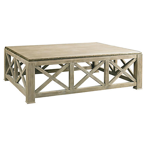 Burleigh Coffee Table, Weathered Gray
