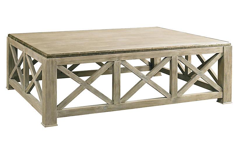 Burleigh Coffee Table, Weathered Gray