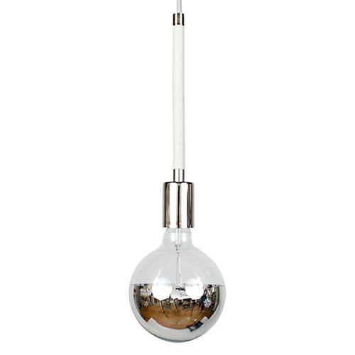 Single Branch Pendant, Polished Nickel