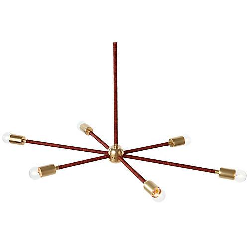 Orbit Chandelier, Brass/Sienna