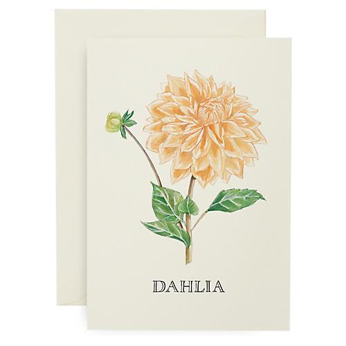 S/8 Dahlia Note Cards