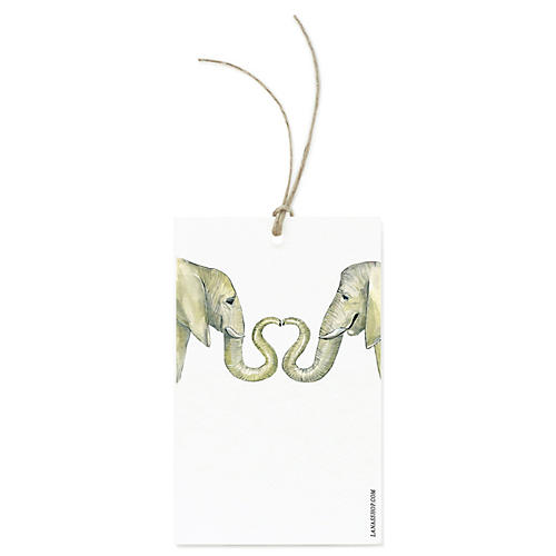S/12 Elephant Love Gift Tags