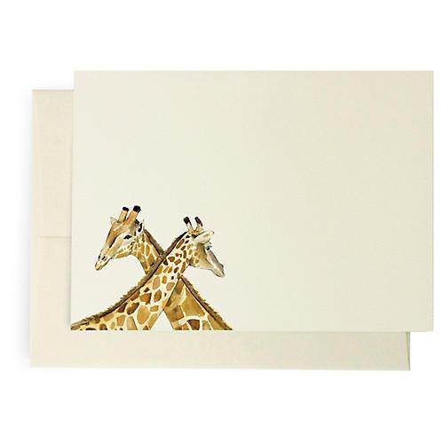 S/10 Giraffe Note Cards