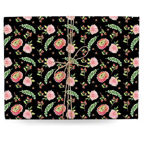 S/3 Ditsy Floral Gift Wrap