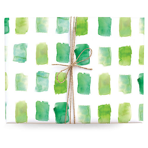 S/3 Watercolor Gift Wrap