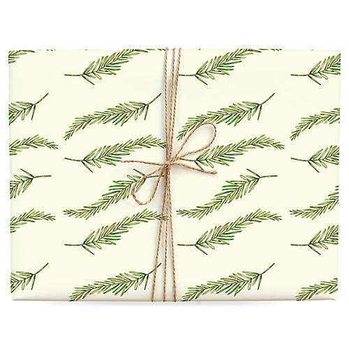 S/3 Fir Branch Gift Wrap