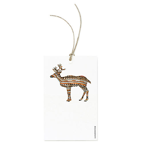 S/12 Reindeer Gift Tags