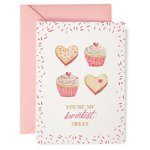 S/8 Sweetest Treat Valentine's Card Note Cards