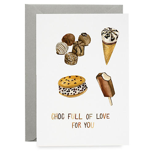 S/8 Choc Full of Love Greeting Cards