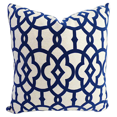 Faye 20x20 Cotton Blend Pillow Navy