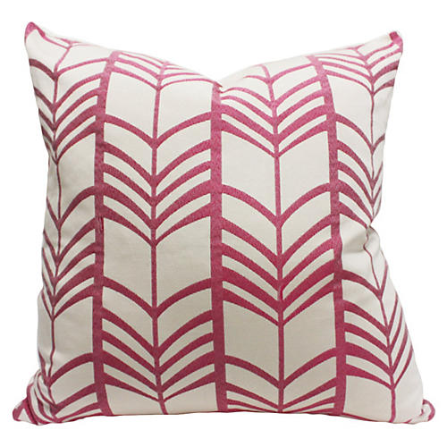 Lauren 20x20 Linen Pillow, Pink