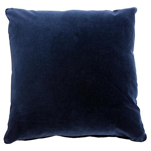 Marlon 20x20 Velet Pillow, Uniform Navy
