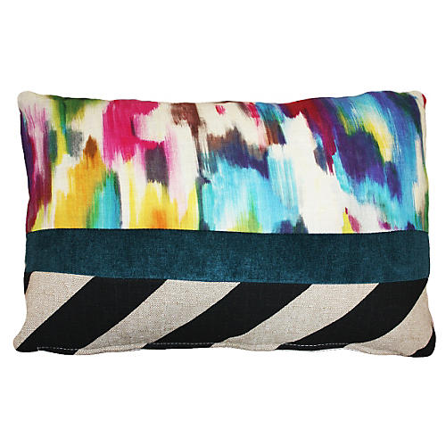 Palette 14x20 Cotton Pillow, Multi