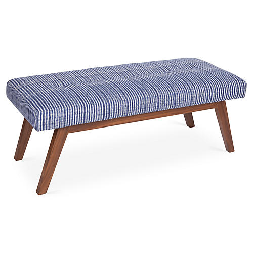Bleeker Bench, Indogo/White