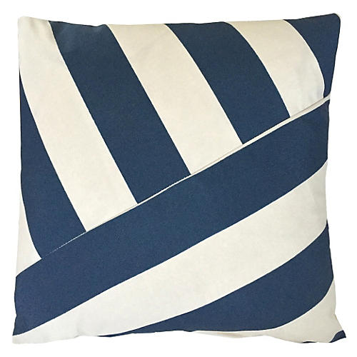 Marina 20x20 Outdoor Pillow, Indigo