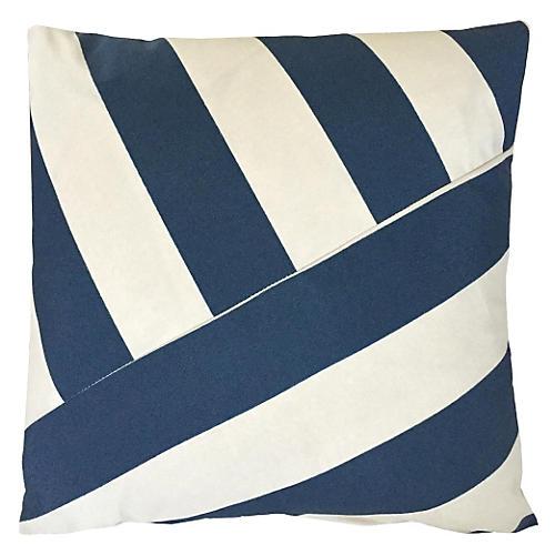Marina 20x20 Outdoor Pillow, Indigo
