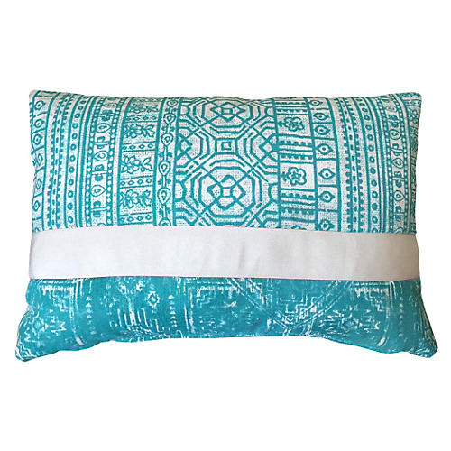 Christina 14x20 Outdoor Pillow, Aqua