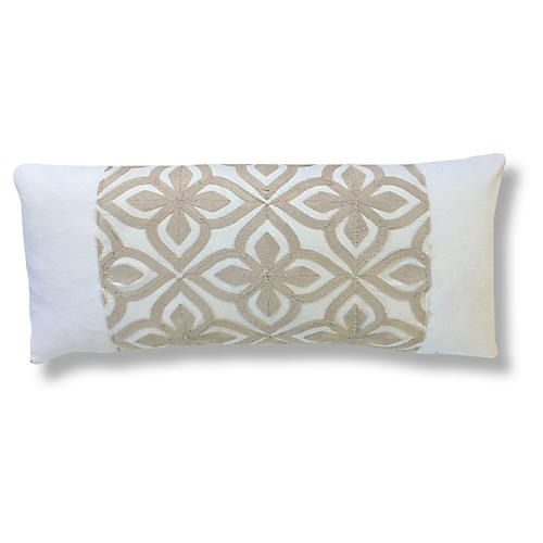 Bembe 14x28 Pillow, White