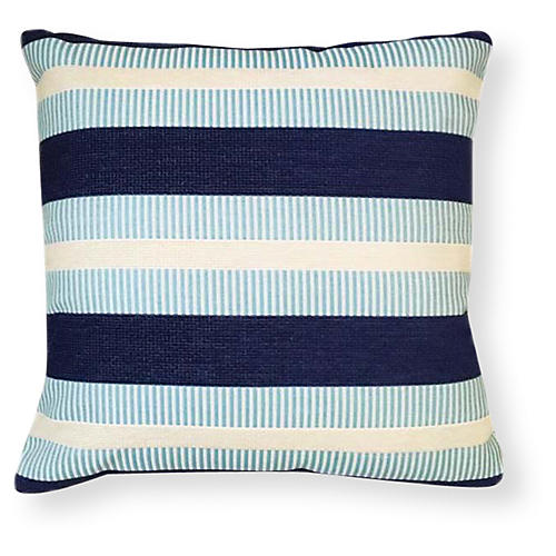Teagan 20x20 Outdoor Pillow, Ocean