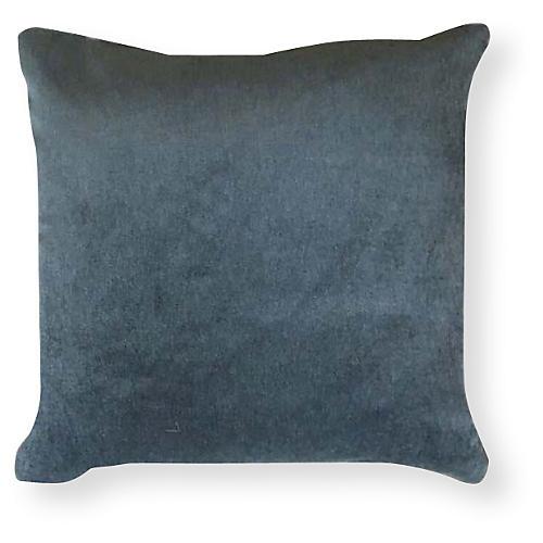 Velvet 20x20 Outdoor Pillow, Dusty Teal