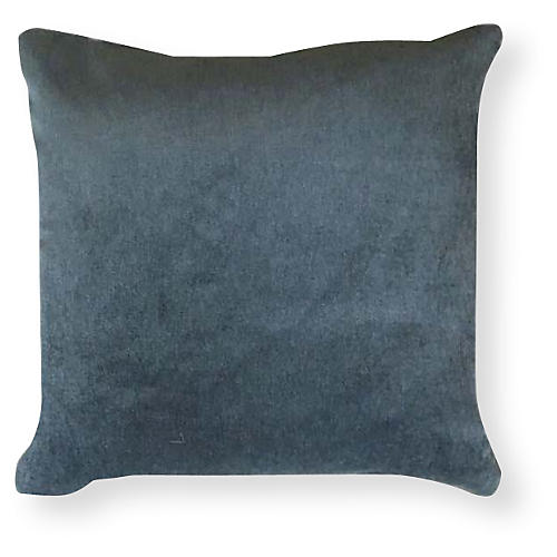 Velvet 20x20 Outdoor Pillow, Dusty Teal