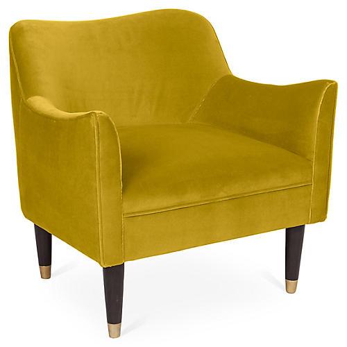 Alexander Accent Chair, Citrine Velvet