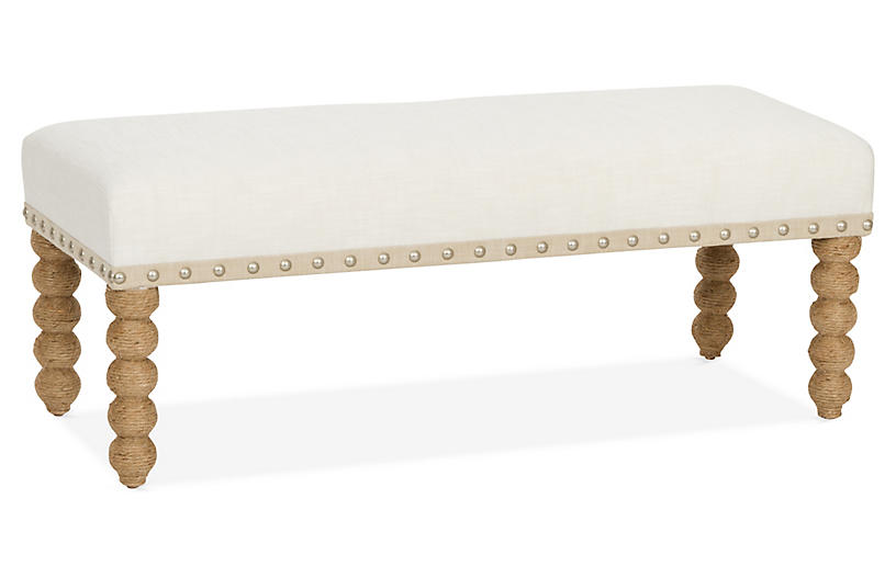Carly Bench, Ivory Crypton