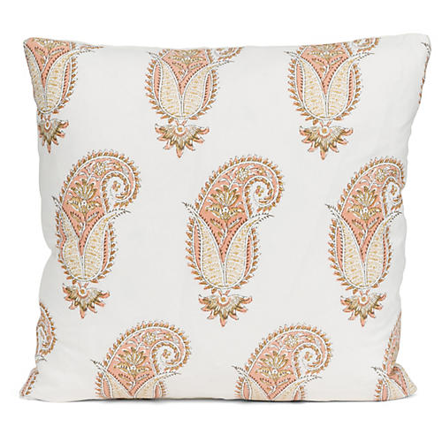 Jaipur 20x20 Pillow, White/Multi