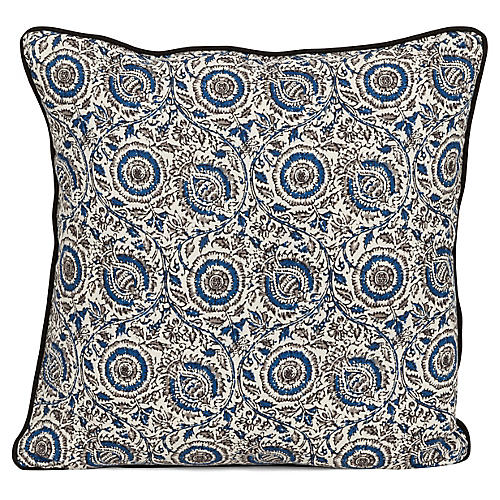 Rima 20x20 Pillow, Blue