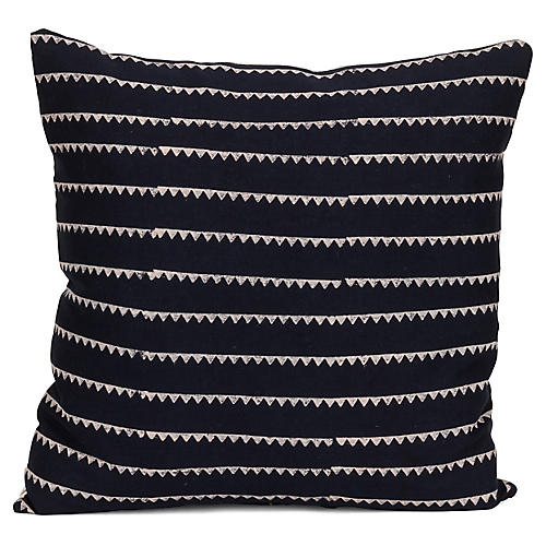 Sharay 20x20 Pillow, Dark Blue