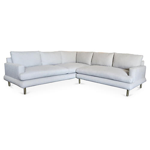Somerset Sectional, Greige Crypton