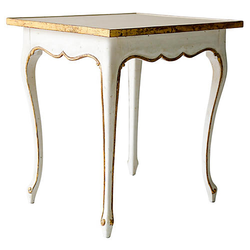 Regent Side Table, Antiqued White
