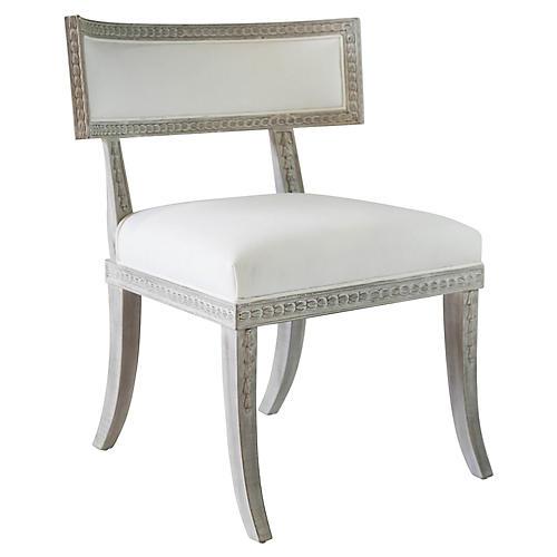Aria Side Chair, Whitewash