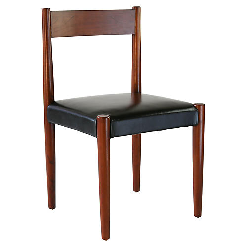 Anders Side Chair, Black Leather