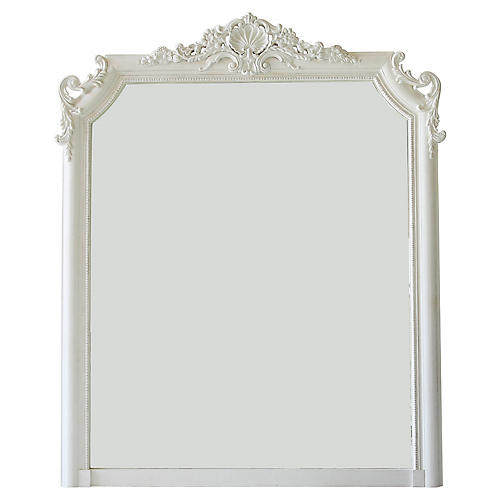 "Regent 53""x66"" Shell Wall Mirror"