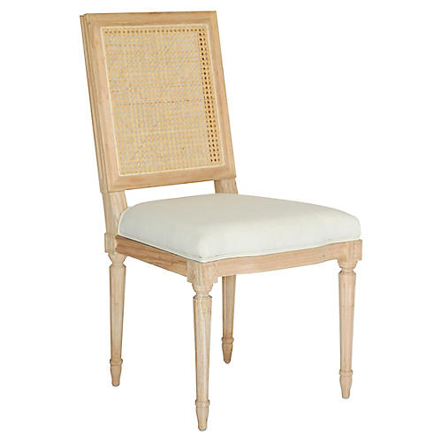 Bienville Side Chair, Oyster Linen