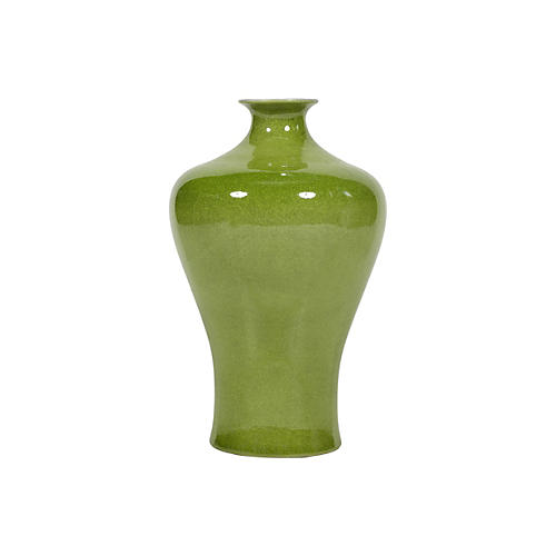 "17"" Plum Vase, Green"