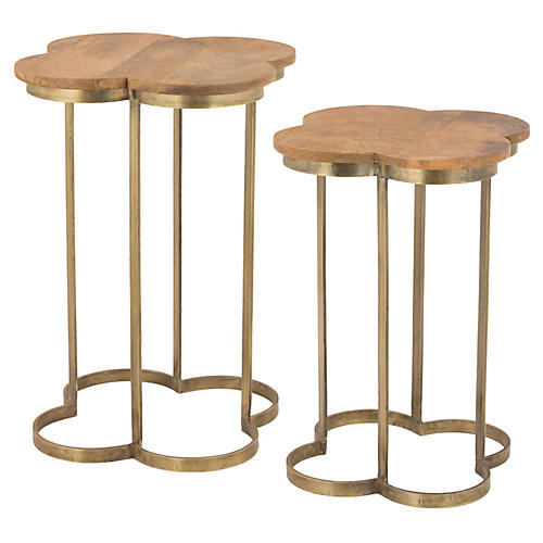 Sidony Gold Side Tables, Set of 2