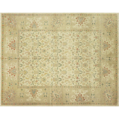 "8'x10'2"" Egyptian Sultanabad Rug, Brick/Multi"