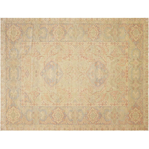 "10'4""x13'6"" Egyptian Sultanabad Rug, Beige/Multi"