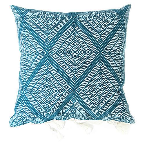 San Andres 18x18 Pillow, Teal