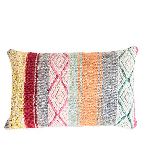 Peruvian No. 10 15x22 Lumbar Pillow, Pale Blue