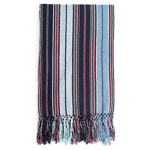 San Juan Cotton Throw, Indigo