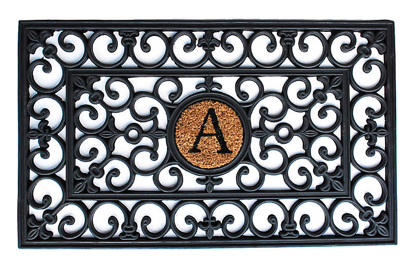 Monogram Doormat - Black