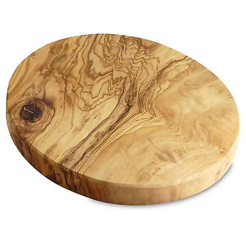 Olivique Round Cheese Board, Natural