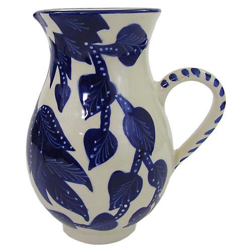 Jinane Pitcher, Cobalt Blue/White